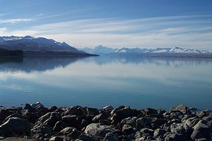 Mount Cook from the southern shore of Lake Pukaki.