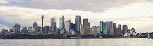 Sydney Harbour taken from a water taxi Sydney ...