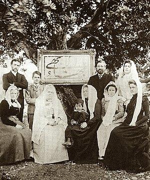 Western pilgrims in Akka in early 1901