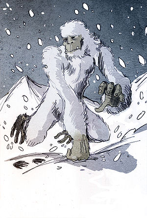 illustration of a yeti by Philippe Semeria.
