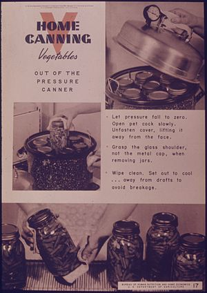 """Home Canning Vegetables Out Of The Press..."
