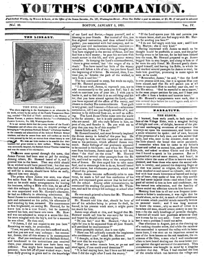 Youth's Companion, January 5, 1831. Published ...