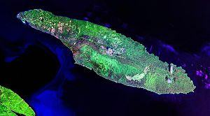 Anticosti Island - Landsat satellite photo (ci...