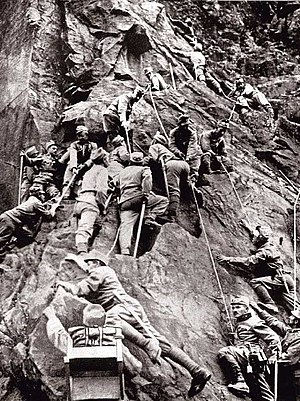 English: Austro-Hungarian mountain corps durin...