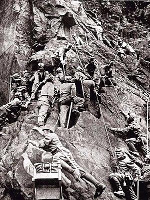 English: Austro-Hungarian mountain corps durin...