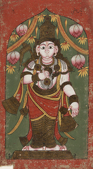 17th century mural of Balarama from a wall han...