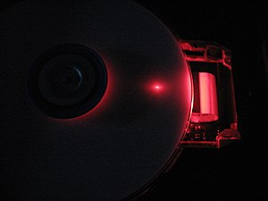 dvd burner operating with cover removed