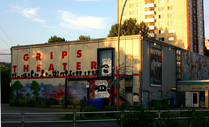 Grips-Theater in Berlin at Hansaplatz, Foto: De-okin CC BY-SA 3.0)