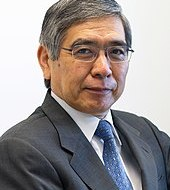 "Haruhiko Kuroda, whom Abe appointed as Governor of the Bank of Japan in Spring 2013, has implemented the ""first arrow"" monetary policy"
