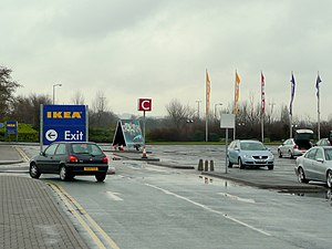 English: IKEA exit When you've had enough shop...