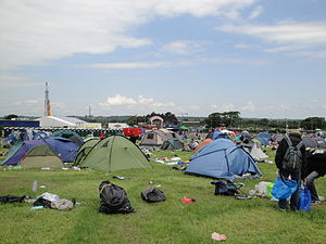 The mess at the campsite on the Monday after t...