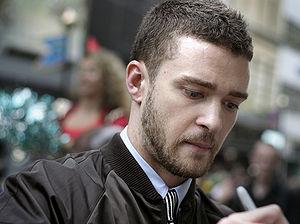 Justin Timberlake at the Shrek the Third Londo...