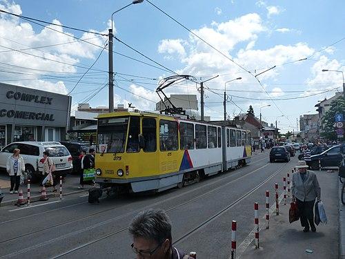 KT4D tram #075 in Ploiești, Romania