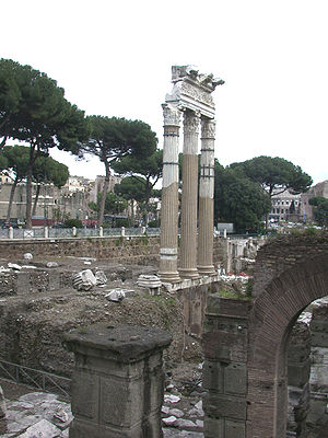 The forum of Caesar and the Temple of Venus Ge...