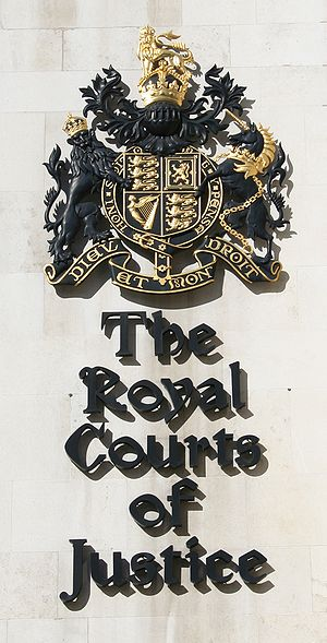 The Royal Courts of Justice Sign, London