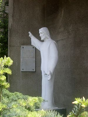 Statue of Jesus Christ at Parish of the Sacred...