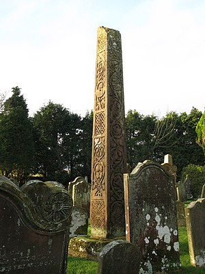 English: The 7th C Bewcastle Cross (3), near t...