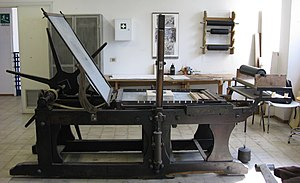 Litography printing press.