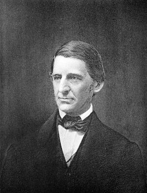 Engraved portrait of Ralph Waldo Emerson, U.S....
