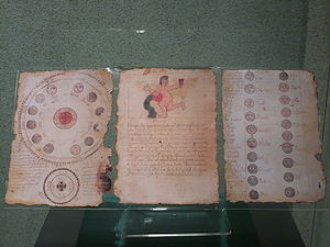 Copy of the Book of Chilam Balam of Ixil displ...