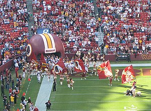 Washington Redskins game at FedExField, Landov...