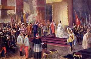 Coronation FOR KING AND QUEEN of HUNGARY of Em...