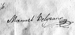 English: Manuel Belgrano's signature Español: ...