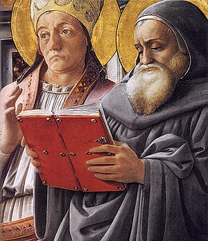 Fra Filippo Lippi - Sts Gregory and Jerome (de...