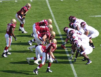 Sean Glennon (en) under center as the Virginia...