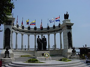 Monument depicting the meeting between Simón B...