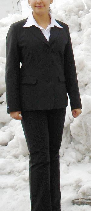 [Ladies] Suit, as worn in standard corporate e...