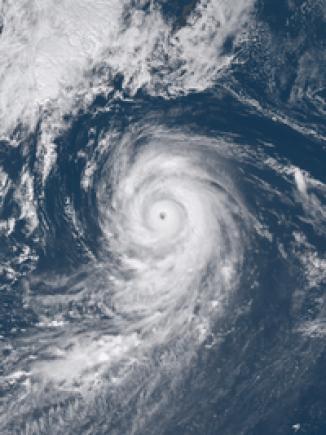 ひまわり8号による衛星画像(8月28日)