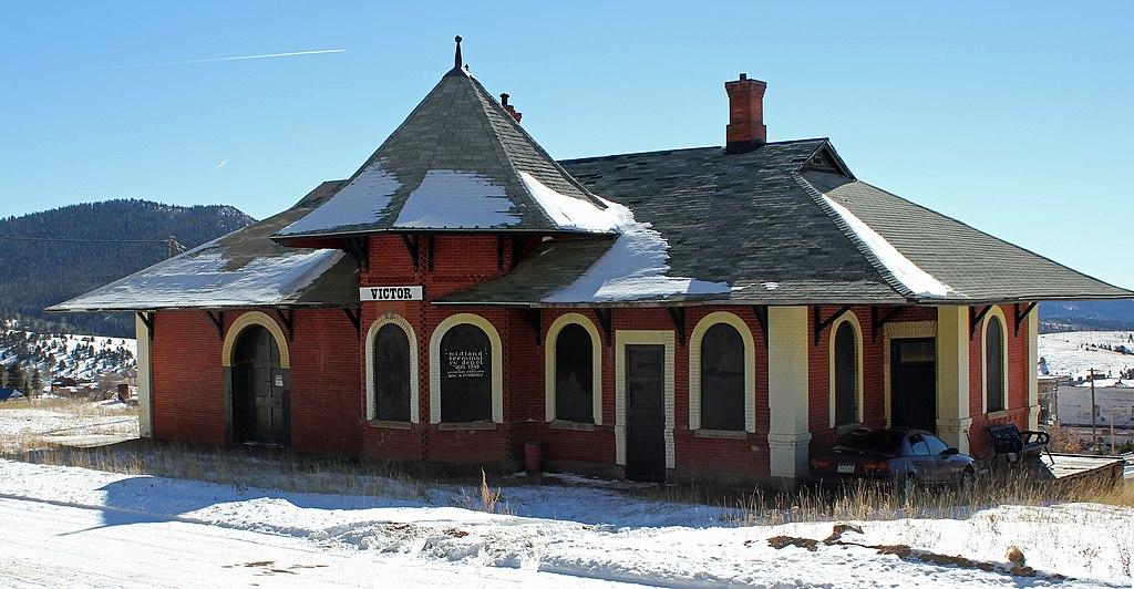 File Midland Terminal Railroad Depot Victor Colorado