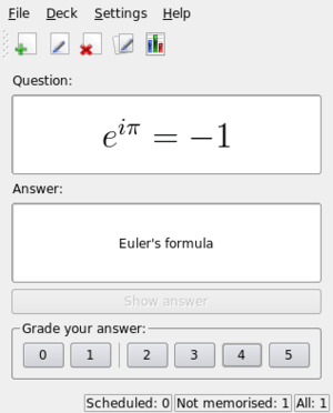 Mnemosyne with a mathematical formula.