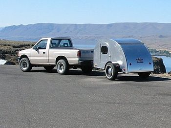 Teardrop trailer (Columbia River, Washington S...
