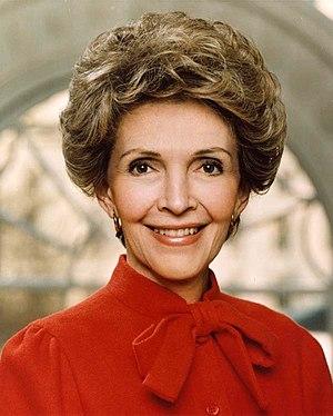 Official White House photograph of Nancy Reaga...