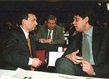 Viktor Orbán with Tamás Deutsch in 2000