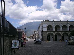 Paisaje de La Antigua Guatemala.
