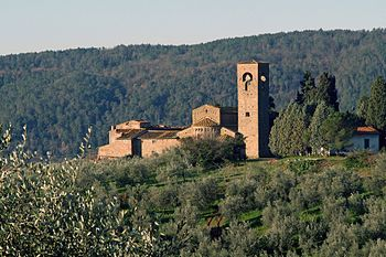 The Italian wine region of Carmignano in Tuscany