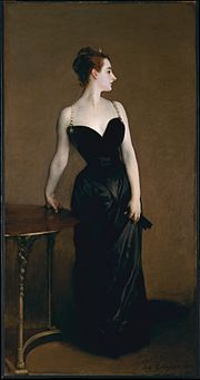 Madame X, 1884, oil on canvas, 234.95 x 109.86 cm, Metropolitan Museum of Art, Manhattan.