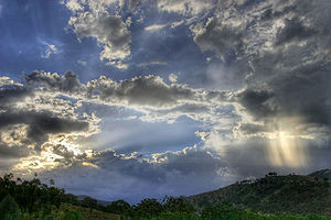 Sunset, High Dynamic Range Image