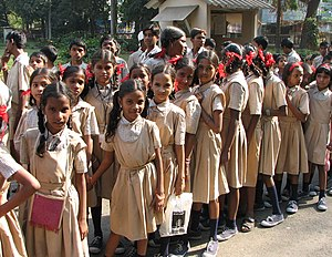 Young students, Mumbai, India