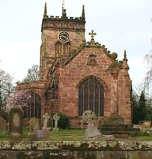 St Mary's Church, Acton, near Nantwich, Cheshire