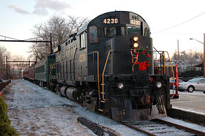 English: West Chester Railroad engine no. 4230...
