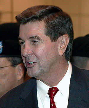 Governor of Alabama (AL) Bob Riley, greets the...