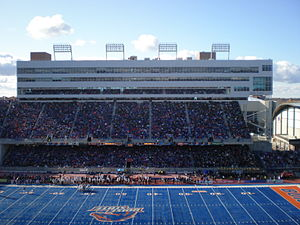 English: Bronco Stadium in Boise, ID during th...