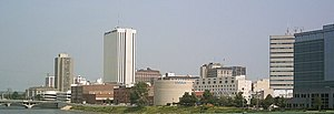 English: Skyline of Cedar Rapids, Iowa, lookin...