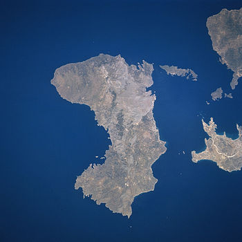 Satellite image of Chios