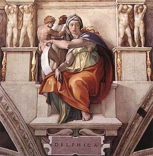 Michelangelo's rendering of the Delphic Sibyl