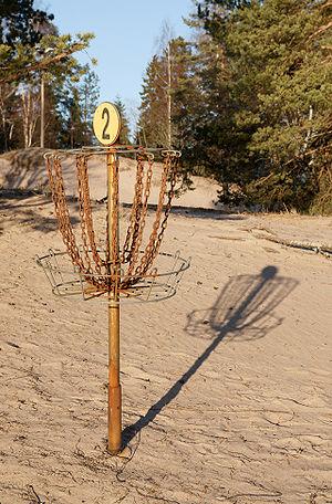 English: Disc golf basket number 2 in Yyteri.